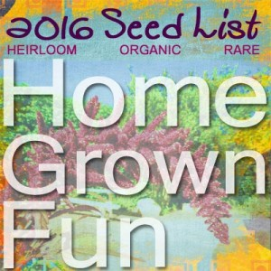 2016 Seed List and Garden Plan - What We're Growing for Fun and Food