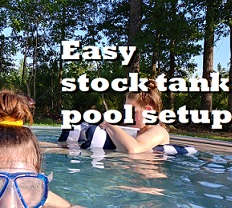 Easy Stock Tank Pool - No Tools or Drilling