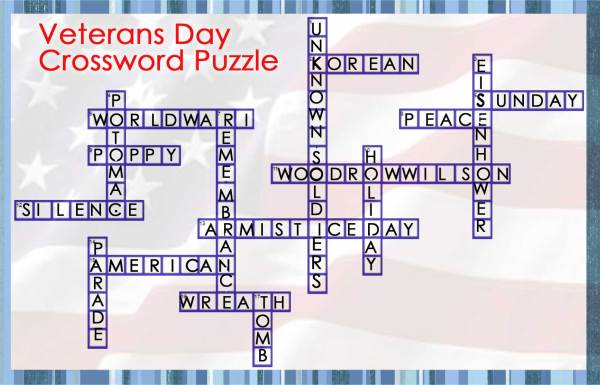 Veterans Day Crossword Answers