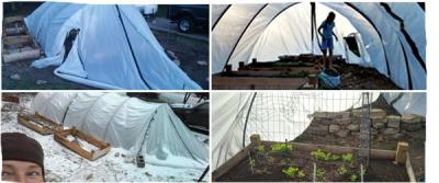 Greenhouse for winter using rebar