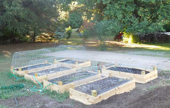 Build 6 raised beds in one day on a budget home grown fun for Pretty raised beds