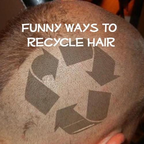 recycle human hair