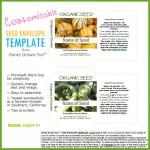 Printable seed envelope template