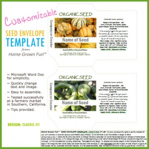 FREE Seed Envelope Template