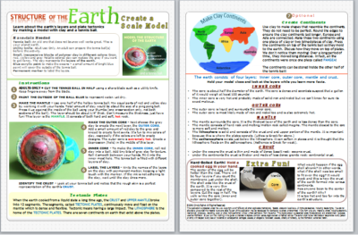 structure of the earth model HOW TO GUIDE Home Grown Fun